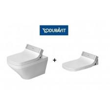 Duravit SensoWash zestaw Durastyle miska wisząca WC + deska z funkcją mycia (610200002004300+2537590000)O1