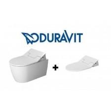 Duravit SensoWash Slim zestaw Me by Starck miska wisząca WC + deska z funkcją mycia (611000002004300+2529590000)O1