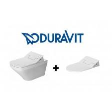 Duravit SensoWash Slim zestaw Durastyle miska wisząca WC + deska z funkcją mycia (611200002004300+2537590000)O1