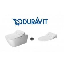 Duravit SensoWash Slim zestaw Happy D.2 miska wisząca WC + deska z funkcją mycia (611300002004300+2550590000)O1