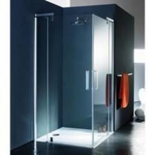 Huppe Refresh Drzwi prysznicowe do ścianki szkło przezroczyste 900x1928 Chrom eloxal Anti-Plaque - 572308_O1