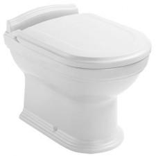 Villeroy & Boch Hommage miska WC stojąca lejowa, 370 x 565 mm, odplyw poziomy, do montazu blisko sciany, Weiss Alpin Ceramicplus - 8761_O1