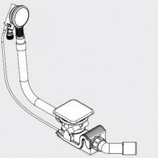 Kaldewei Syfon z funkcją napełniania Mod. Ka4081z emaliowaną pokrywą odpływu biały - 540230_O1