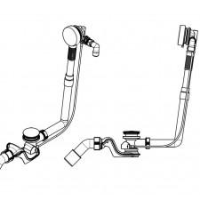 Kaldewei Comfort-Level Plus Syfon wannowy Model 4012, z nap. p\przelew, przedłużony Chrom - 762459_O1