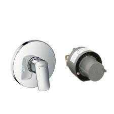 Hansgrohe Logis Zestaw prysznicowy, montaż podtynkowy, elementpodstawowy i element zewnętrzny - 572636_O1