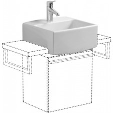 Villeroy & Boch Pure Basic, Umywalka mala, 350 x 350 mm, do montazu z meblami, Weiss AlpinO1