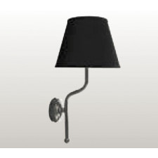 Kerasan Retro lampa ścienna, czarny klosz - 462597_O1