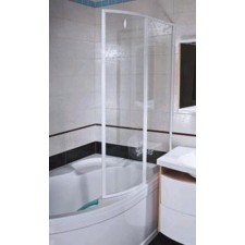 Ravak parawan nawannowy VSK2-100 Rosa II 170 prwa biała szkło transparentO1