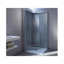 Duravit OpenSpace kabina prysznicowa kwadratowa 90x90 cm, armatura lewa, szkło przezroczyste i lustrane - 453697_O1