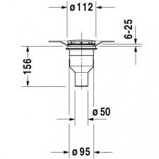 Duravit PuraVida Syfon odpływowy pionowy chrom - 419792_O1