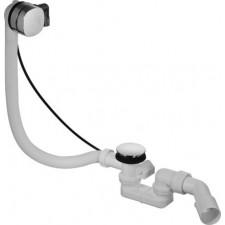 Duravit Happy D.2 zestaw przelewowo-odpływowy Quadroval chrom z napełnianiem wody - 468864_O1