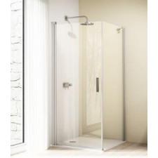 Huppe Design elegance 4-kąt, Drzwi skrzydłowe, wariant: STN/STS, 1/2 STE; wym. 900/H:1900mm, szkło przezroczyste z Anti-Plaque - 436398_O1