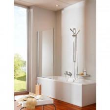Huppe Design Elegance Parawan naw. 1-częśc 75H:1500 chrom eloxal szkło przezroczyste - 438639_O1