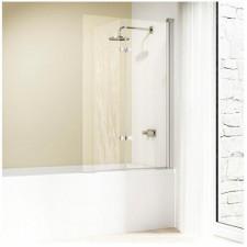 Huppe 501 Design elegance Parawan nawannowy 120 P. Drzwi skrzydłowe składane szkło/profil srebny mat. - 436120_O1