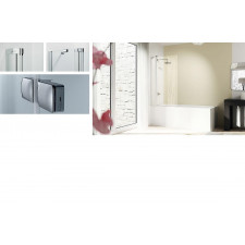 Huppe Design Pure parawan nawannowy 95 cm/ wysokość 150 cm 1-częściowy ze stałym segmentem - 754272_O1