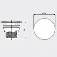 Kaldewei Syfon umywalkowy bez funkcji zamykania Model 3904 odpływ z okrągłą emaliowaną pokrywą biały - 540127_O1