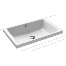 Kaldewei Puro S umywalka nablatowa stalowa z powierzchnią uszlachetnioną 600 x 385 x 40 biała - 762393_O1
