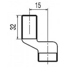 """Tres mimośród standard z gwintem bocznym 1/2"""" 32 mm 120 - 180 mm - 4512_T1"""