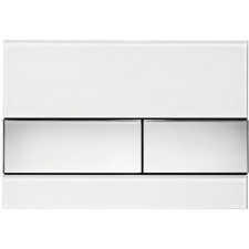 Tece Square przycisk spłukujący ze szkła do WC; szkło białe, przyciski chrom połysk - 507713_O1