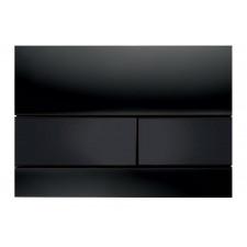 Tece Square przycisk spłukujący ze szkła do WC; szkło czarne, przyciski czarne - 416588_O1