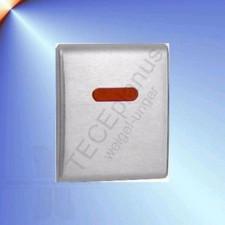 Tece Planus mechanizm spłukujący elektroniczny do pisuaru, zasilany 230/12V, stal szlachetna szczotkowana (matowy) - 164296_O1