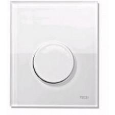 Tece Loop przycisk spłukujący ze szkła do pisuaru, szkło białe, przycisk biały - 164267_O1