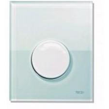 Tece Loop przycisk spłukujący ze szkła do pisuaru, szkło zielone, przycisk biały - 164268_O1