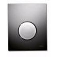 Tece Loop przycisk spłukujący ze szkła do pisuaru, szkło czarne, przycisk biały - 164271_O1