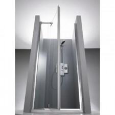 Huppe 1002 Drzwi prysznicowe skrzydłowe 4-kąt 80 tytan Anti-Plaque - 77745_O1