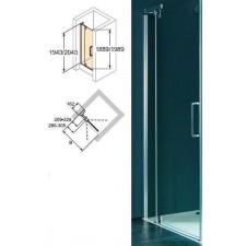 Huppe 4-kąt Drzwi skrzydłowe ze stałym segmentem do wnęki STN 1200 Refresh Pure 4-kąt - 433270_O1