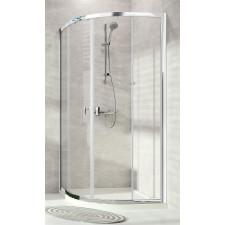 Huppe Alpha Kabina prysznicowa półokrągła 90x90x190 Srebrny połysk\Transparent AntiPlaque - 822124_O1