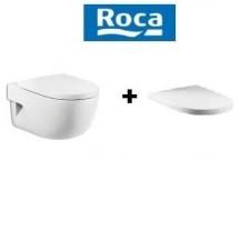 Roca Meridian-N Compacto zestaw miska WC wisząca 48 cm biała z deską wolnoopadającą (A346248000+A8012AC004)O1