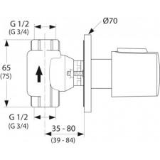 Ideal Standard Ceratherm 100 New zawór odcinający podtynkowy chrom - 552435_O1