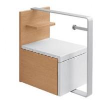 Villeroy & Boch Lifetime Zestaw meblowy do toalety 48x35x51,6 korpus orzech front lakierowany na czerwono - 406778_O1