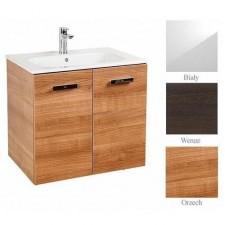 Roca Victoria Basic zestaw łazienkowy Unik z 2 drzwiami 70cm (szafka + umywalka) biały - 488381_O1