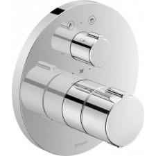 Duravit C.1 Bateria prysznicowa podtynkowa termostatyczna dla dwóch odbiorników Chrom - 767208_O1
