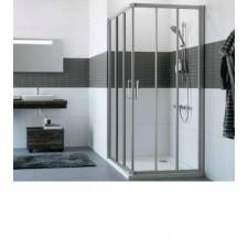 Huppe Classics Drzwi narożnikowe suwane 100 cm 3-częściowe 1/2 kabiny srebrny matowy - 745665_O1