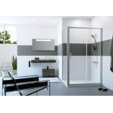 Huppe Classics 2: Drzwi suwane 100 1-częściowe ze stałym segmentem srebrny matowy - 744857_O1