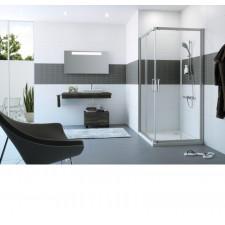 HUPPE Classics 2 EasyEntry 1/2 kabiny-prawe drzwi suwane 90 cm 2-częściowe srebrny matowy - 751501_O1