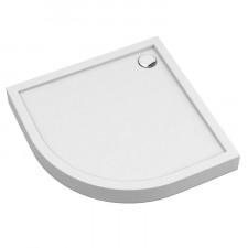 Omnires Camden brodzik prysznicowy akrylowy, półokrągły, 80x80cm, biały połysk - 782575_O1