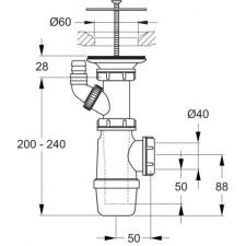 Ideal Standard syfon do zlewu service (p9770) vulcano chrom - 368234_O1