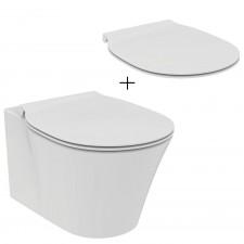 Ideal Standard Connect Air Zestaw Miska WC wisząca bezrantowa biała + Deska sedesowa wolnoopadająca biała (E015501 + E036601) - 791879_O1