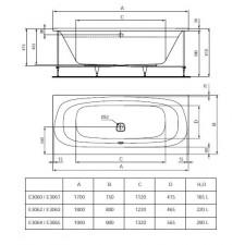 Ideal Standard Dea wanna 190x90cm panel lewy biała - 576229_O1