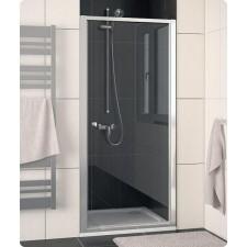 Sanswiss Ronal Eco-Line drzwi otwierane jednoczęściowe do ścianki lub wnęki 80 profil srebrny mat, szkło przezroczyste - 409536_O1