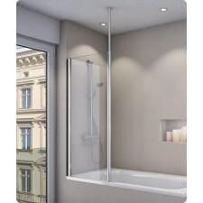 Sanswiss Ronal Fun ścianka wannowa stała 80 profil połysk, szkło krople - 493953_O1