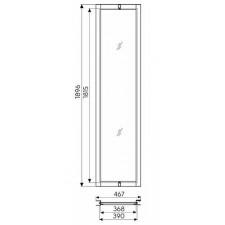 Koło Geo 6 panel poszerzający 42cm szkło transparentne - 488041_O1