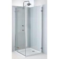 Koło Next drzwi prysznicowe skrzydłowe do ścianki 120cm prawe chrom - 424841_O1
