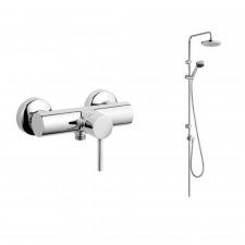 Kludi Bozz Zestaw prysznicowy z deszczownicą 20 cm z bateria natynkową (6609005-00+388310576) chrom - 507743_O1