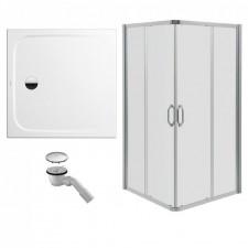 Huppe Ena kabina prysznicowa 80x80 + brodzik Kaldewei Cayonoplan + syfon (140102069322) - 472384_O1