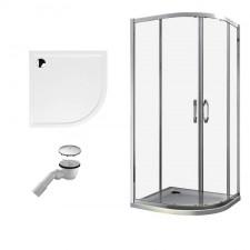 Huppe Ena 2.0 kabina prysznicowa 90x90 powłoka + brodzik Xerano 1/4 koła + syfon (140602069322) - 554029_O1